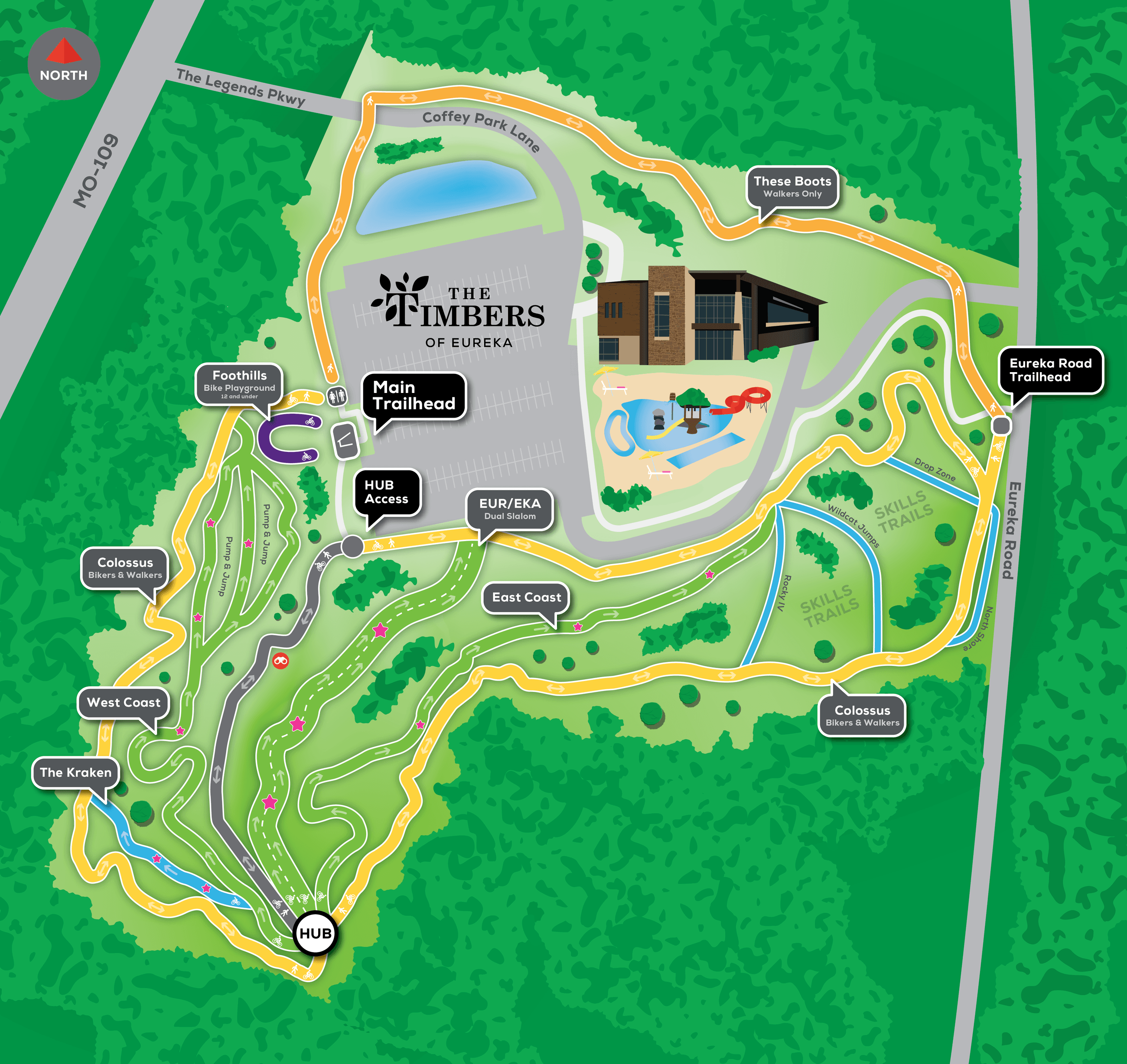 Mountain Bike Park Map