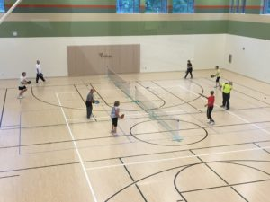 Aerial View of a Group Participating Pickleball